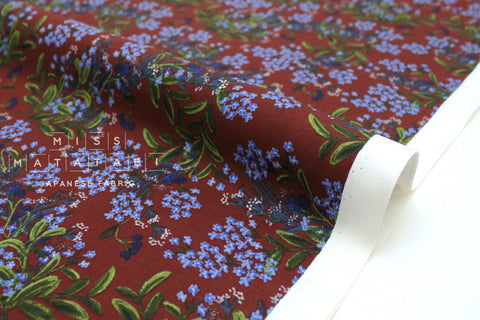 Cotton + Steel Meadow - cornflower burgundy - fat quarter