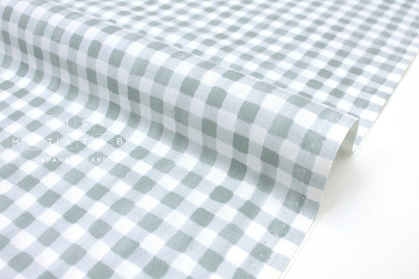Cotton + Steel Meadow - painted gingham slate - 50cm
