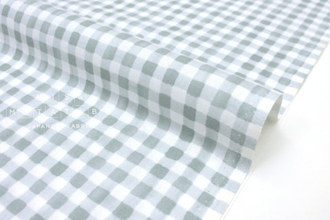 Cotton + Steel Meadow - painted gingham slate - fat quarter