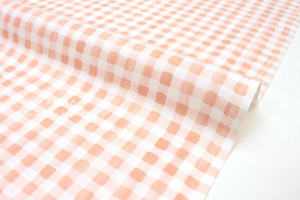 Cotton + Steel Meadow - painted gingham blush - 50cm
