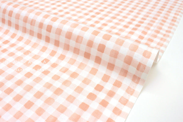 Cotton + Steel Meadow - painted gingham blush - fat quarter