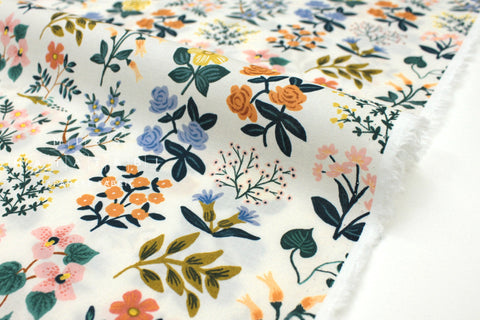 Cotton + Steel Meadow lawn - wildflower field cream - 50cm