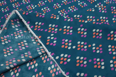Cotton + Steel Cookie Book lawn - drops teal - 50cm