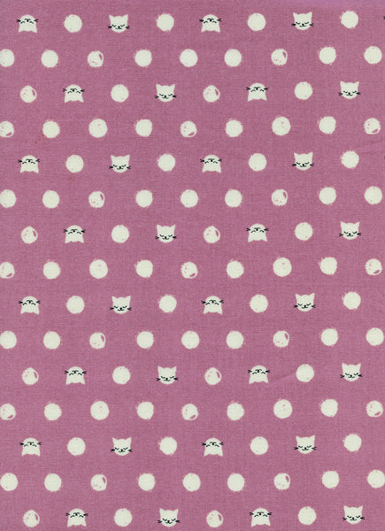 Cotton + Steel Cat Lady - friskers lavender - 50cm