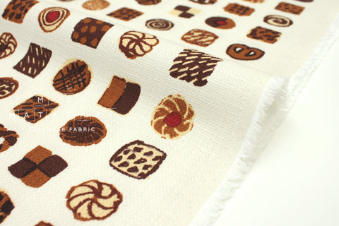 Japanese Fabric Kokka Oyatsu Cookie - A - fat quarter