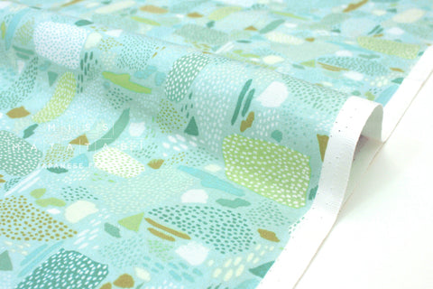 Japanese Fabric Cotton + Steel Girl's Club - Pebbles aqua - 50cm