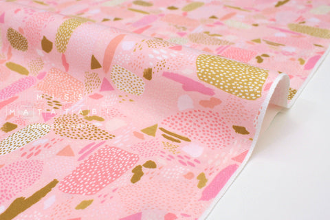 Japanese Fabric Cotton + Steel Girl's Club - Pebbles pink - 50cm