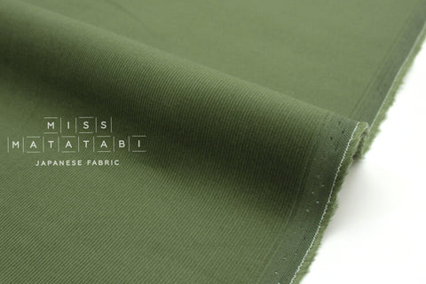 Japanese Fabric Corduroy Solids - green - 50cm