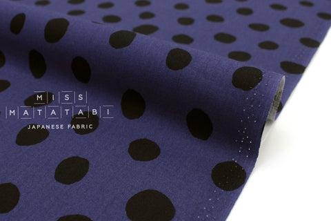 Japanese Fabric Soft Dots - royal blue - 50cm