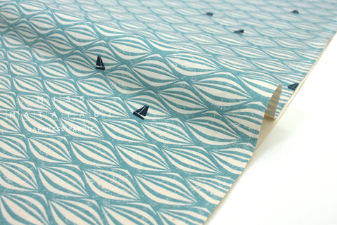 Japanese Fabric Cotton + Steel By The Seaside - Ahoy sky - fat quarter