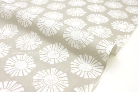 Japanese Fabric Cotton + Steel By The Seaside - Sunshine chalk - 50cm
