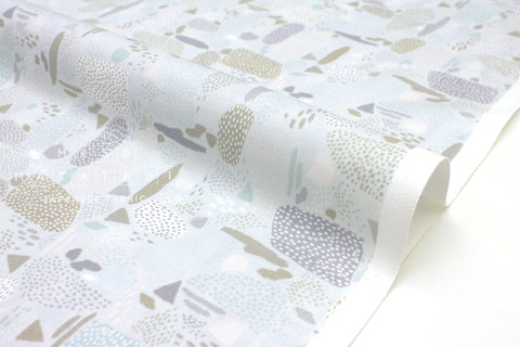 Japanese Fabric Cotton + Steel Girl's Club - Pebbles gray - fat quarter