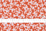 Japanese Fabric Floral cotton lawn - clay orange - 50cm