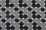 Japanese Fabric reversible double knit - Stones - black, grey - 50cm