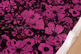 Cotton + Steel Cat Lady rayon - Purrfect Hiding Spot - purple - 50cm