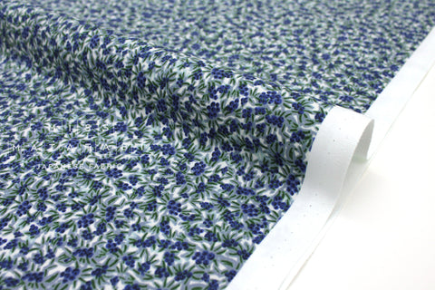 Cotton + Steel Meadow - blueberries blue - 50cm