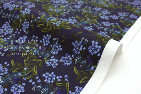 Cotton + Steel Meadow - cornflower navy - fat quarter