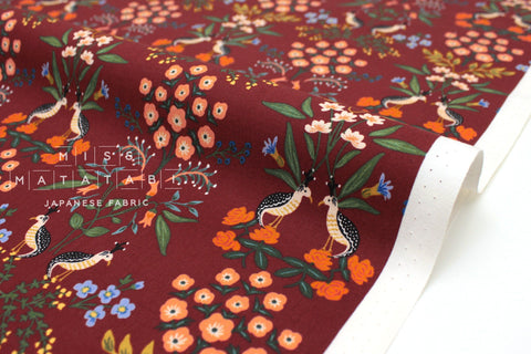 Cotton + Steel Meadow - Luxembourg burgundy - fat quarter