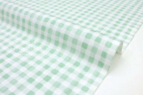Cotton + Steel Meadow - painted gingham mint - 50cm