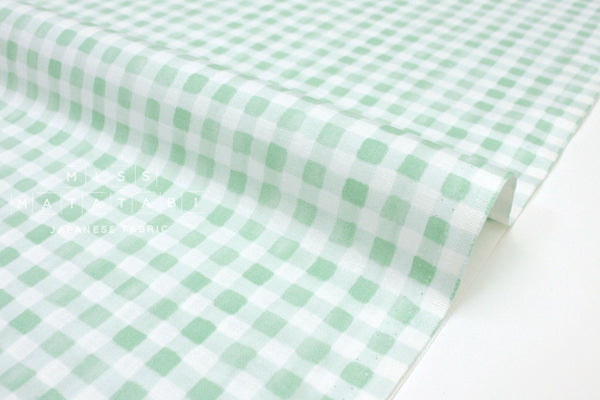 Cotton + Steel Meadow - painted gingham mint - fat quarter