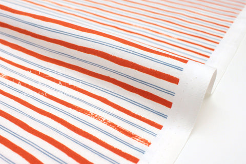 Cotton + Steel Meadow - stripes red - fat quarter