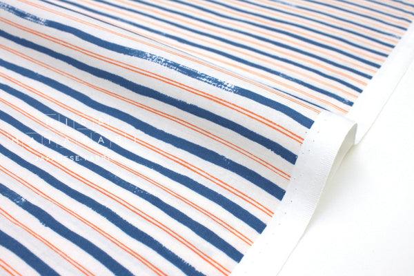 Cotton + Steel Meadow - stripes blue - 50cm