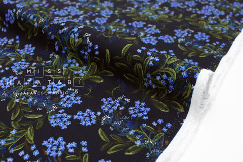 Cotton + Steel Meadow rayon - cornflower navy - 50cm