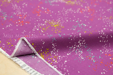 Cotton + Steel Mochi lawn - speckled dark plum - 50cm