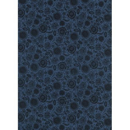 Cotton + Steel Lawn Quilt - forest floor midnight - 50cm