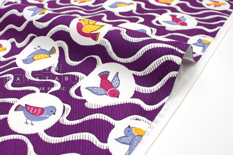 Japanese Fabric Vintage Birds - C - 50cm