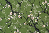 Japanese Fabric Kokka Ume Blossoms - green - 50cm