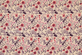 Japanese Fabric Winter Berries - coral orange, pink - 50cm