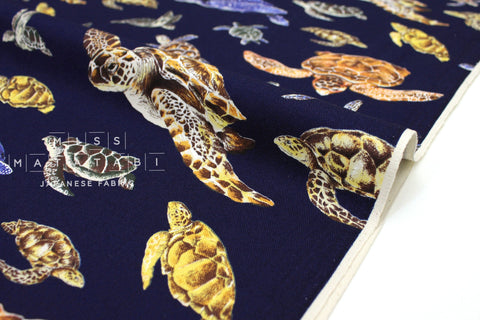 Japanese Fabric Marine Turtles - B - 50cm