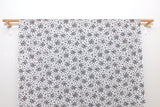 Japanese Fabric Tiny Floral cotton lawn - black - 50cm