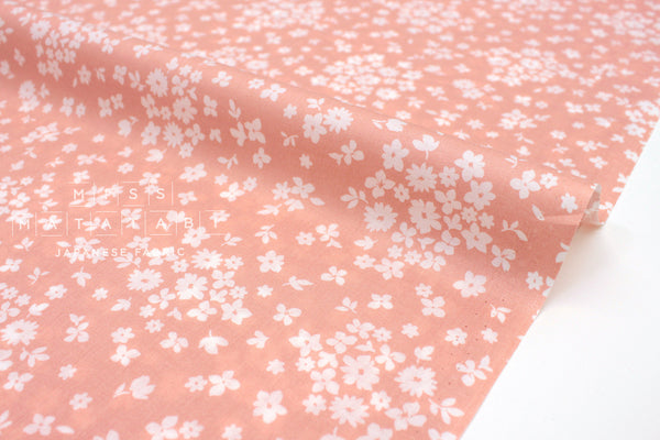 Japanese Fabric Tiny Floral cotton lawn - yellow - 50cm