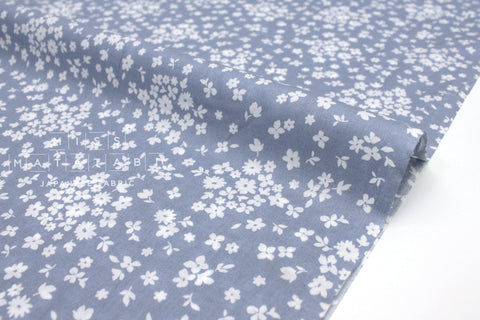 Japanese Fabric Tiny Floral cotton lawn - blue - 50cm