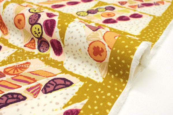 Japanese Fabric Kokka Oyatsu Fruit Sandwich - A - fat quarter