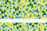 Japanese Fabric Cotton + Steel Girl's Club - Flower Fountain yellow white pigment - fat quarter