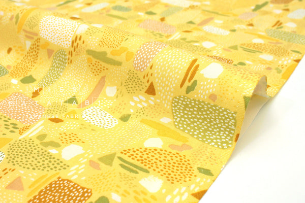 Japanese Fabric Cotton + Steel Girl's Club - Pebbles yellow - fat quarter