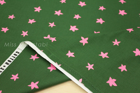 Cotton + Steel Mesa - Stars evergreen pink - 50cm