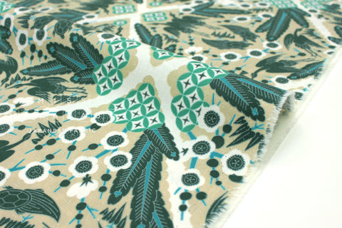 Japanese Fabric Kokka Uremos - Cranes and Turtles - B - 50cm