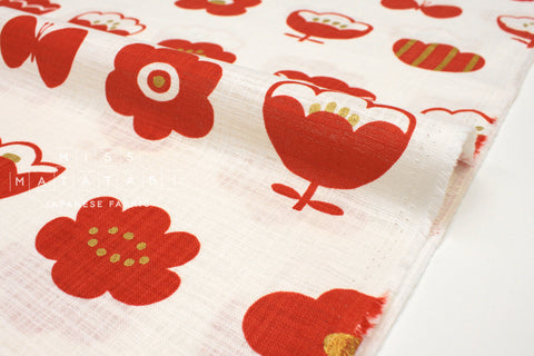 Japanese Fabric Kokka Trefle Simple Life Flowers - D - 50cm