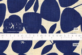 Japanese Fabric Kokka Trefle Simple Life Ringo Ohana - blue - 50cm