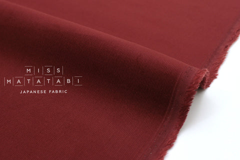 Japanese Fabric Corduroy Solids - wine red - 50cm
