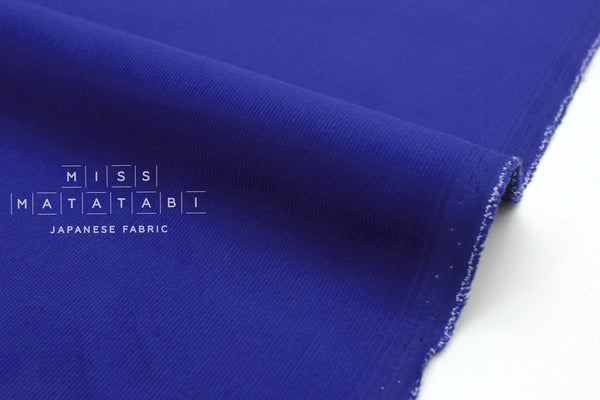 Japanese Fabric Corduroy Solids - cobalt blue - 50cm