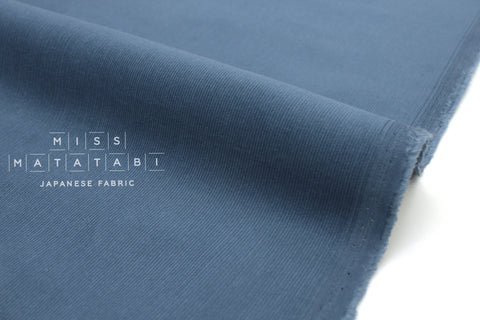 Japanese Fabric Corduroy Solids - steel blue - 50cm