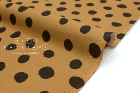 Japanese Fabric Soft Dots - clay - 50cm