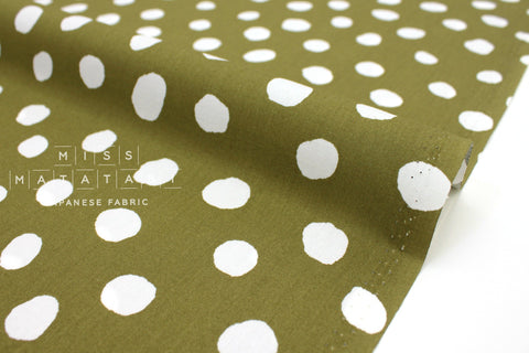 Japanese Fabric Soft Dots - olive - 50cm
