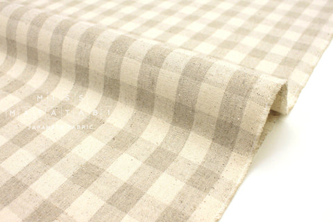 Japanese Fabric Woven Gingham - natural - 50cm