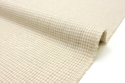 Japanese Fabric Woven Houndstooth - natural - 50cm
